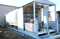 4000 gallon oilfield fuel tank with 4 comparment lubester and 2 stage air compressor 25 HP