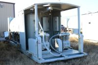 4000 gallon oilfield fuel tank with 4 comparment lubester and dual 2 stage air compressors 25 HP