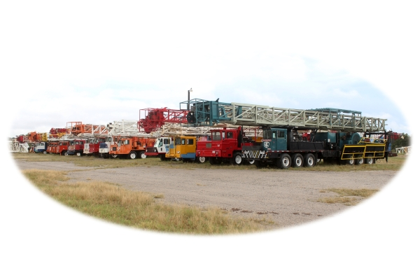 cardwell, service king, franks, hopper, corsair crane, skytop brewster, taylor, ideco, wilson mogul, moor, used well service rigs in stock
